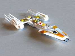 Sci-Fi Shuttle Craft 3d model