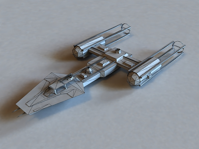 Sci Fi Shuttle Craft 3d Model 3ds Max Files Free Download