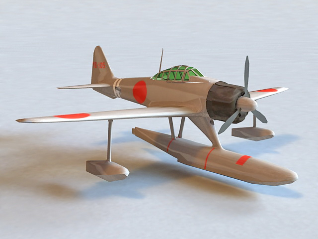 A6M2-N Fighter-bomber 3d model