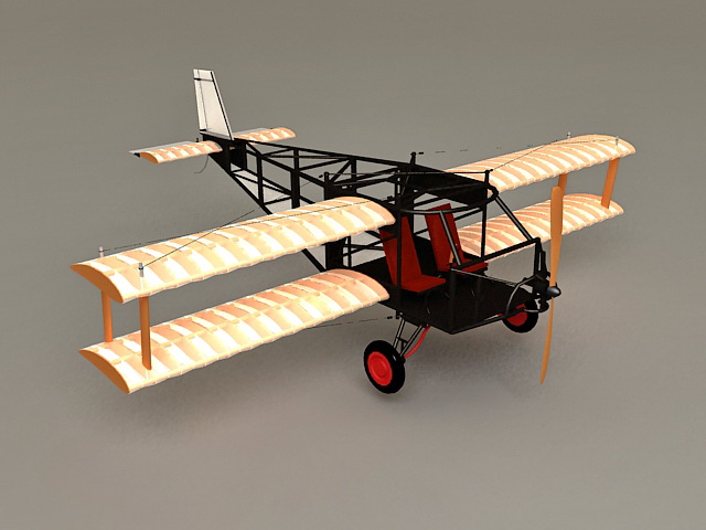 Early Biplane 3d model