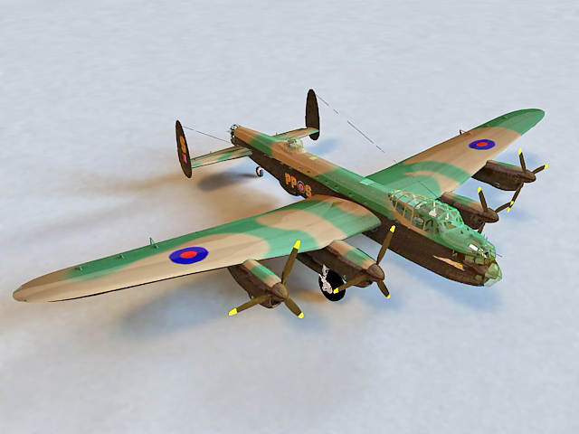 Avro Lancaster Heavy Bomber 3d model