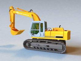 Fiat Hitachi Excavator 3d model