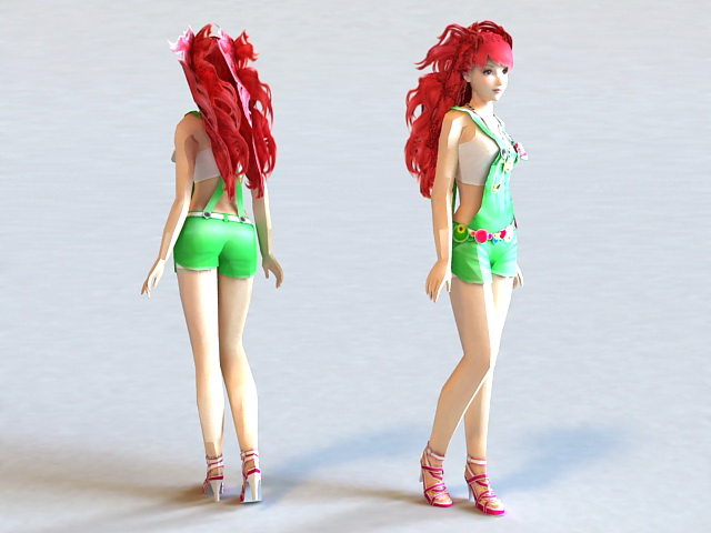 Hot Summer Girl 3d model