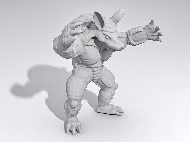 Armadillo Monster 3d model