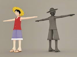 Monkey D. Luffy One Piece Character 3d model