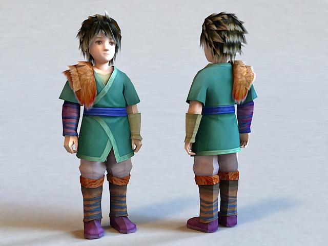 Winter Boy 3d model