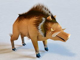 Cartoon Wild Boar 3d model