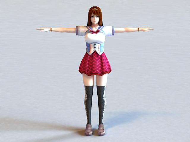 Anime Girl Teacher 3d model