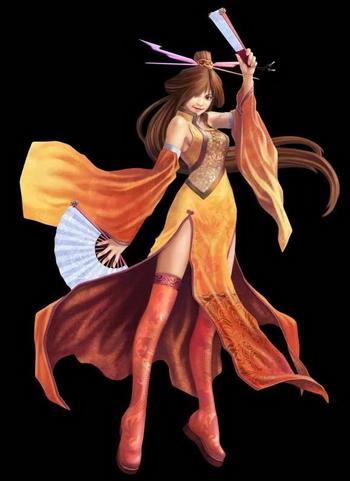 Chinese Warrior Anime Girl 3d model