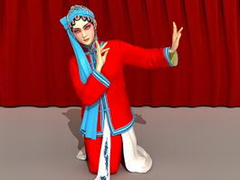 Chinese Peking Opera Woman 3d model