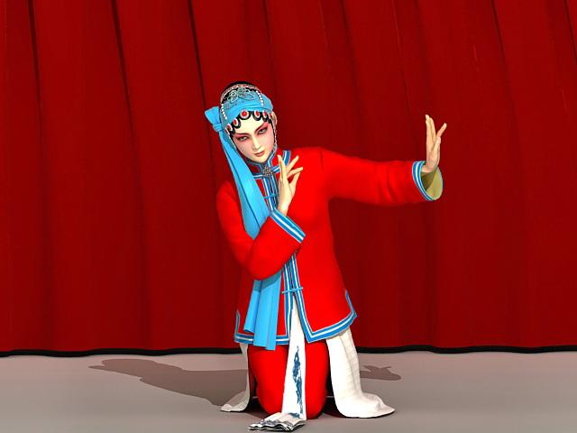Chinese Peking Opera Woman 3d model