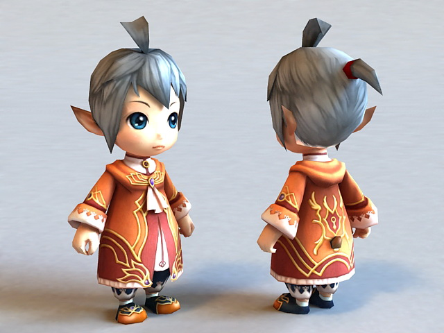 Anime Characters 3d Models : Anime boy character d model ds max files free download