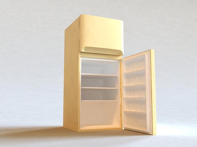 Small Refrigerator 3d model