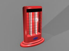 Halogen Electric Heater 3d model