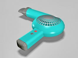 Electric Hair Dryer 3d model