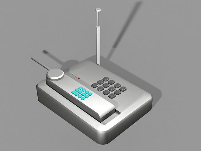 Vintage Cordless Telephone 3d model
