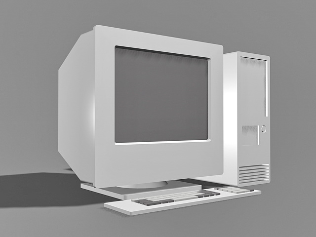 Old Desktop Computer 3d model