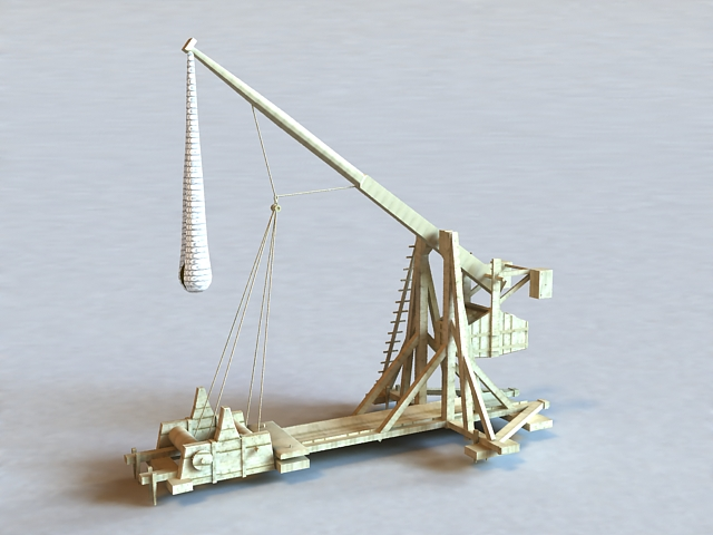 Trebuchet Catapult 3d model