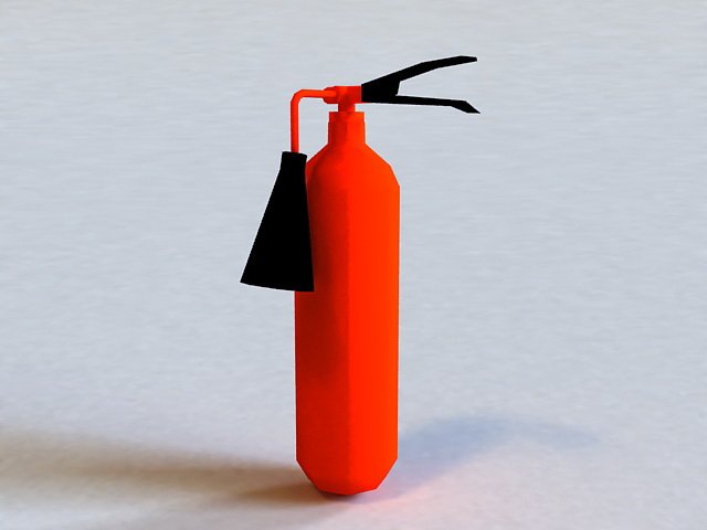 Red Fire Extinguisher 3d model
