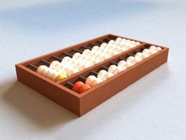 Chinese Abacus 3d model