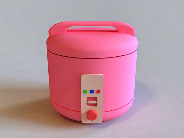 Pink Rice Cooker 3d model