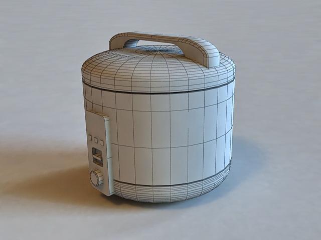 Pink Rice Cooker 3d Model 3d Studio 3ds Max Autocad Dxf