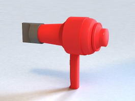 Red Hair Dryer 3d model