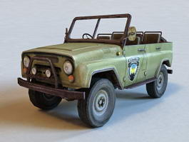UAZ-469 Military Light Utility Vehicle 3d model