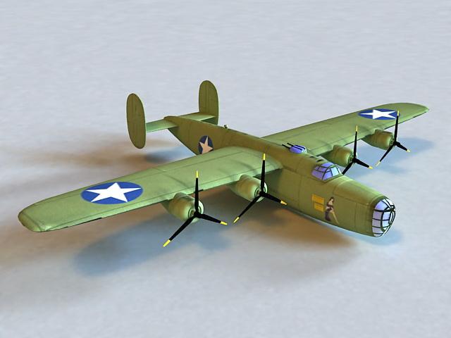 B-24 Liberator Bomber Aircraft 3d model