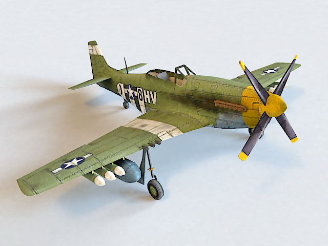 P-51 Mustang Fighter-bomber 3d model