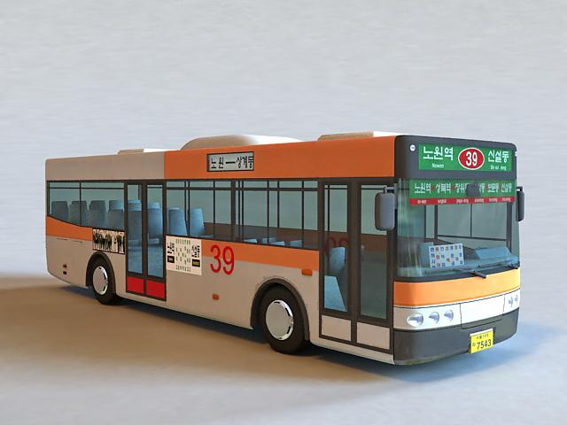 Korean Bus 3d model