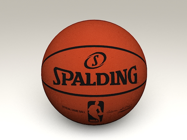 NBA Official Spalding Basketball 3d model