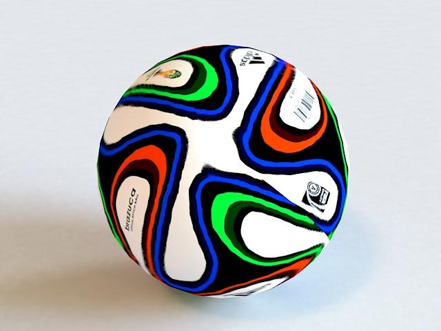 Adidas Brazuca Soccer Ball 3d model