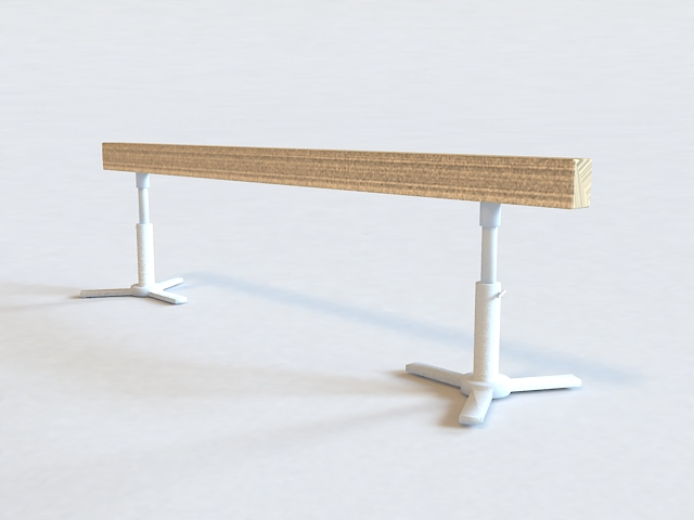 Olympic Balance Beam 3d model