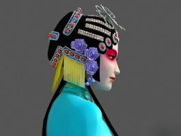 Female Chinese Peking Opera Character 3d model