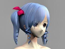 Anime Girl Nude 3d model