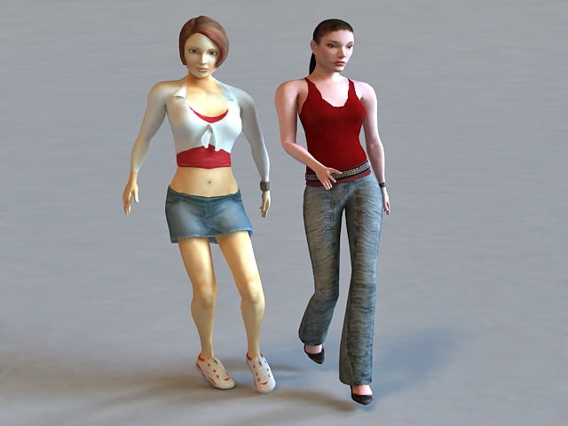 Need for Speed Underground 2 Girls 3d model