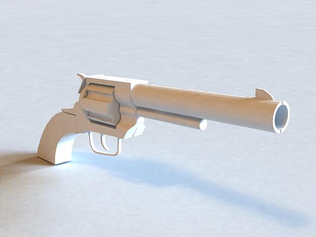 Swing-out Cylinder Revolver 3d model
