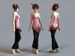 Elegant Lady 3d model
