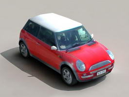 Low Poly Mini Cooper 3d model