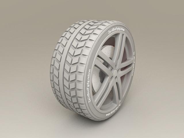 Ferrari Wheel 3d model