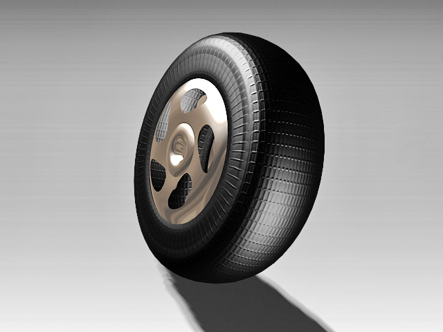 Car Tire and Wheel 3d model