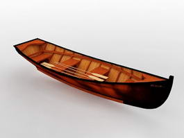 Old Wood Boat 3d model