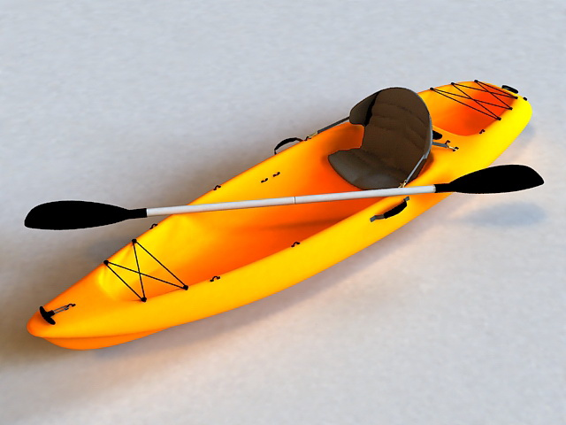 Fishing Kayak 3d Model 3d Studio 3ds Max Files Free