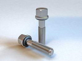 Hex Head Screw 3d model