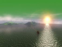 Sea Sunset Scenes 3d model