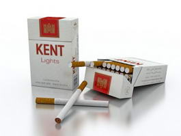 Kent Cigarettes 3d model