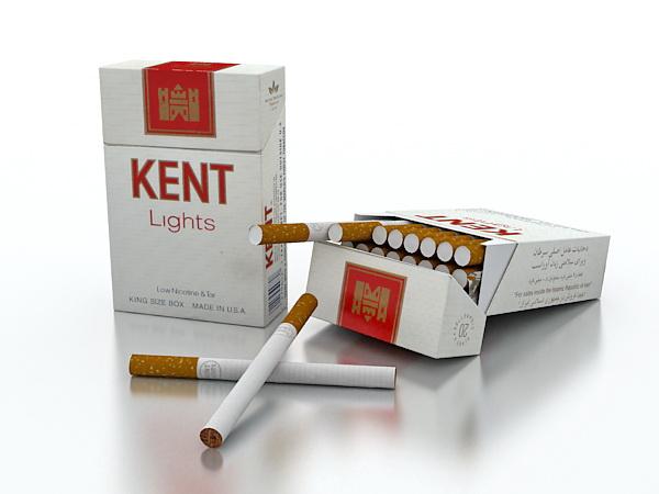 Kent Cigarettes 3d model