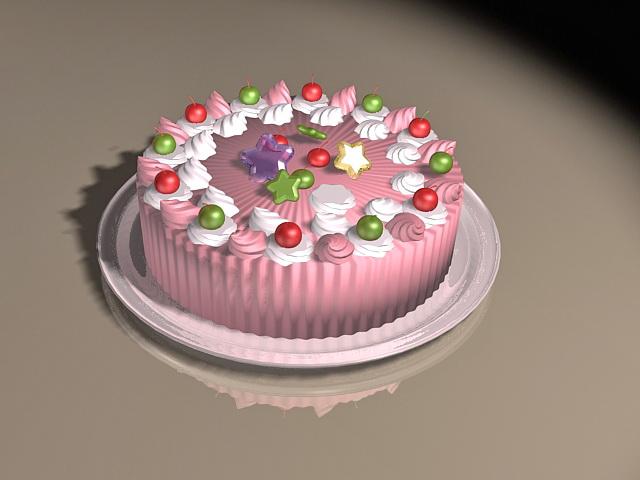 Pink Cake 3d model
