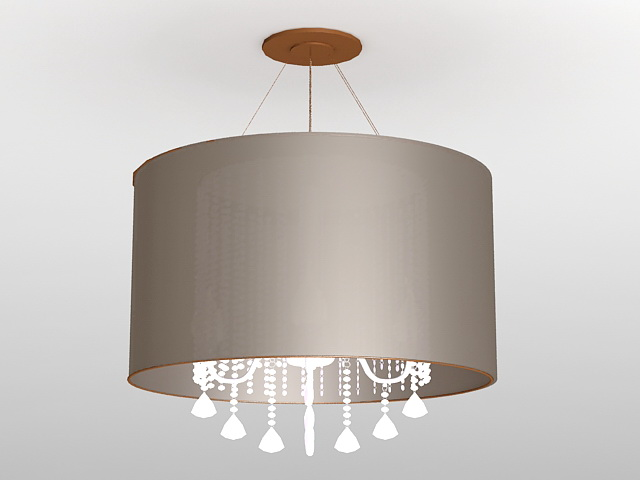 Contemporary Drum Chandelier 3d model